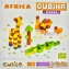CUBIKA Дерев'яний конструктор Cubika World Африка 15306 0
