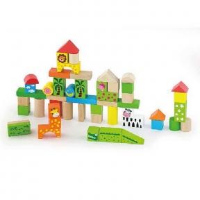 Набір будівельних блоків Зоопарк 50 ел Viga Toys 50286