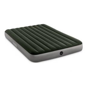 Матрац надувний велюр зелений 152х203х25 Intex 64109