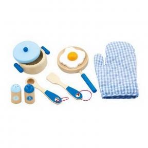 Набір Маленький кухар голубий Viga Toys 50115