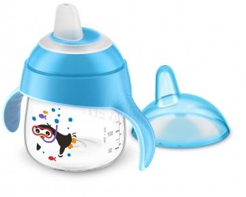 AVENT Чашка-непроливайка м'який носик 200 мл 6 м+ голубий SCF751/05