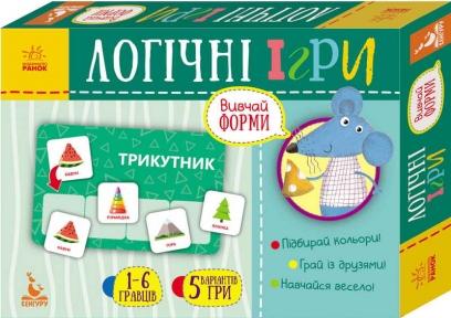 КЕНГУРУ Логічні ігри Вивчай форми 24 картки КН918002У