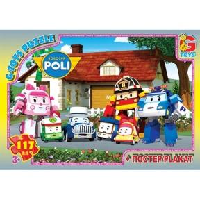 G-TOYS Пазли 117 Robocar Polly 30 x 21 см RR067443