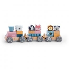 Іграшка Потяг з тваринами Viga Toys PolarB 44015