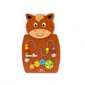Бізіборд Коник з лабіринтом Viga Toys 50678