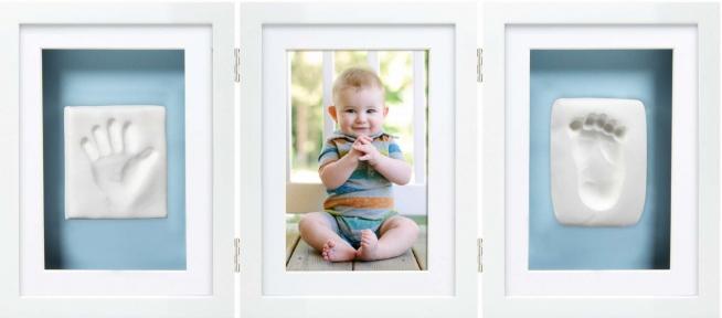 Рамочка для фото та глиняного зліпку PearHead біла P63006