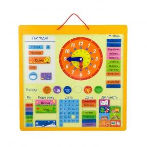Календар магнітний український Viga Toys 50377U
