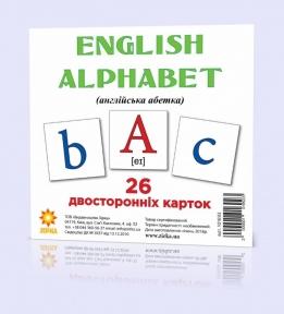 ЗІРКА Картки міні Англійська абетка 11х11 см 101693