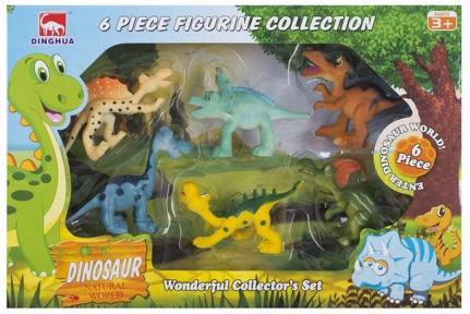 DINGHUA Набір фігурок Милі динозаврики 6 шт D0101