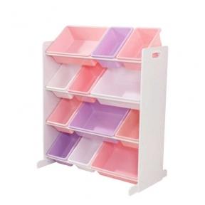 Меблі для зберігання іграшок 12 поличок рожевий KidKraft 15450