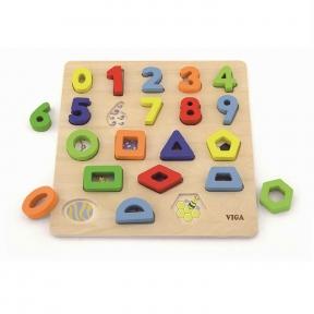 Набір для навчання Цифри і форми Viga Toys 50119