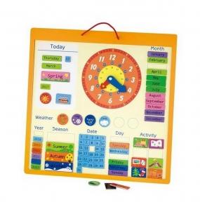 Календар магнітний англійський Viga Toys 50377