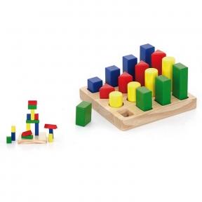 Набір дерев'яних блоків Форма і розмір Viga Toys 51367