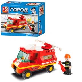 SLUBAN Конструктор Пожежна машина 74 ел M38-B0173