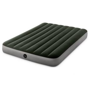 Матрац надувний велюр зелений 137х191х25 см Intex 64778