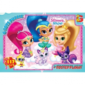 G-TOYS Пазли 117 Shimmer and Shine 30 x 21 см OS613