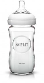 AVENT Бутылочка стеклянная для кормления Natural 240 мл 6648