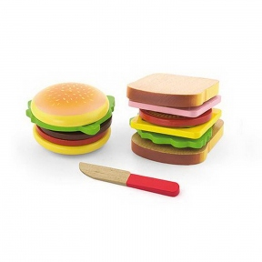 Ігровий набір Гамбургер і сендвіч Viga Toys 50810