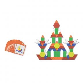 Набір Блоки геометричні на магнітах 102 ел Viga Toys 50669