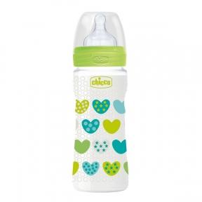 CHICCO Пляшка для годування Wellbeing 330 мл силікон 4 м+ 20635.30.50