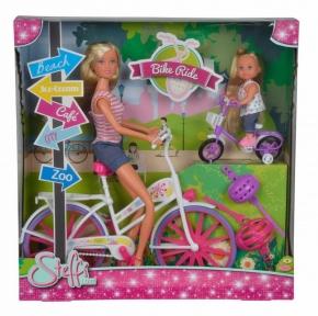 SIMBA Лялька Штеффі та Еві Прогулянка на велосипедах 5733045