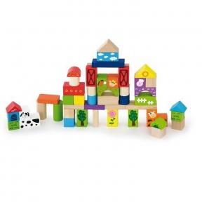 Набір будівельних блоків Ферма 50 ел Viga Toys 50285