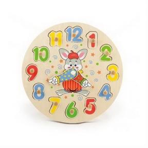 Розвиваюча іграшка-пазл Годинник Viga Toys 56171