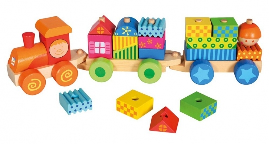 Поїзд з кубиками Bino 82142