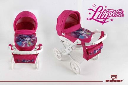 Лялькова коляска Adbor Lily White