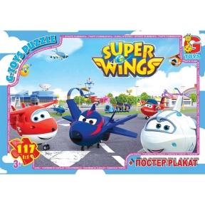 G-TOYS Пазли 117 Super Wings 30 x 21 см UW230