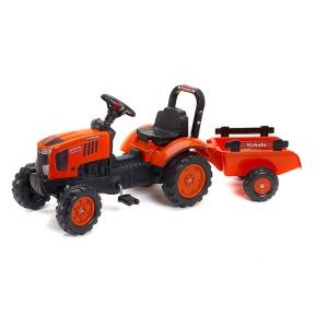 Трактор з причіпом оранжевий Falk 2065AB KUBOTA