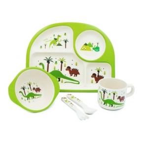 STENSON Набір посуду бамбуковий Динозаврики MH-2773-4