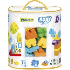 Конструктор Мої перші кубики 30 ел в сумці Wader 41400