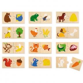 Набір пазлів Що їдять тварини Viga Toys 51607