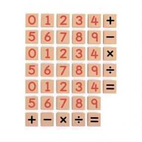Набір Магнітні цифри і знаки 40 шт Viga Toys 50591