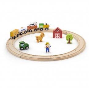 Залізниця дерев'яна 19 ел Viga Toys 51615