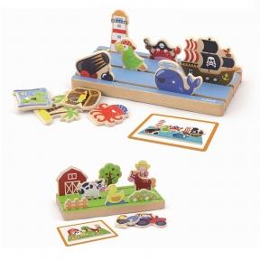 Набір Простір і відстань Ферма і море Viga Toys 50183