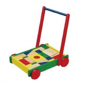 Ходунки на колесах Візок з кубиками Viga Toys 50306