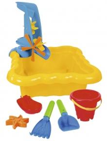 ТИГРЕС Набір для піску і води з млином 7 ел жовтий 39698