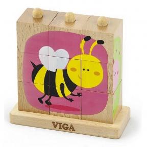 Пазл-пірамідка Комахи Viga Toys 50158