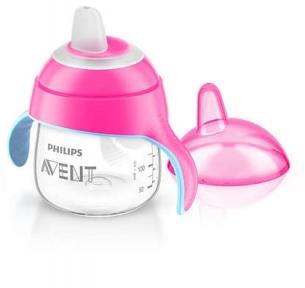 AVENT Чашка-непроливайка м'який носик 200 мл 6 м+ рожевий SCF751/07