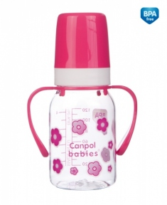 CANPOL Бутылочка 120 мл с ручкой 11/821