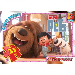 G-TOYS Пазли 35 Секрети домашніх тварин 30 x 21 см SL20149