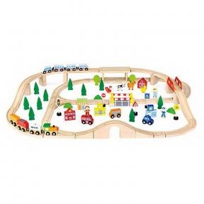 Залізниця дерев'яна 90 ел Viga Toys 50998