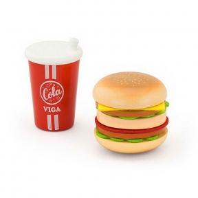 Ігровий набір Гамбургер і кола Viga Toys 51602