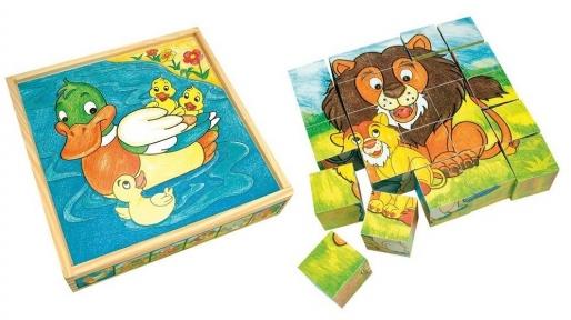 Кубики Тварини Bino 84173
