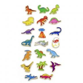Набір магнітних фігурок Динозаври 20 шт Viga Toys 50289