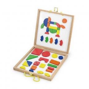 Набір магнітних блоків Форми і колір Viga Toys 59687