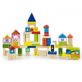 Набір будівельних блоків Місто 75 ел Viga Toys 50287