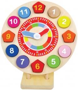 Годинник-пазл дерев'яний Bino 84051